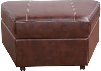 Rooms To Go Masino Blended Leather Storage Ottoman