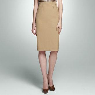 Jones New York High Waist Slit Skirt