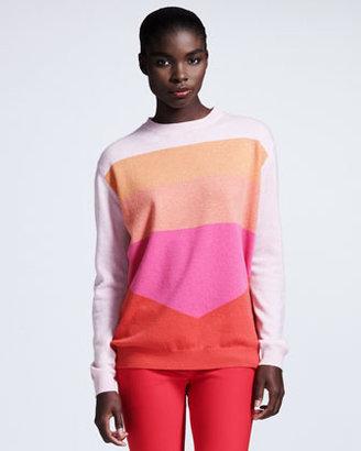 Stella McCartney Colorblock Cashmere Sweater, Pink