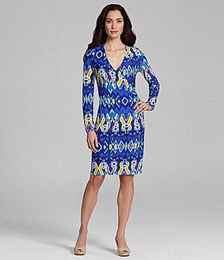 Jones New York Signature Woman Printed Faux-Wrap Dress
