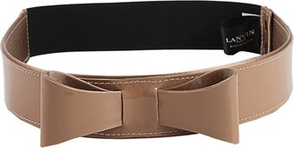 Lanvin Patent Belt with Bow