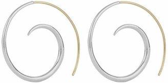Dinny Hall Gold And Silver Toro Large Beak Street Hoop Earrings