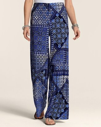 Chico's Blue Tile Palazzo Pant