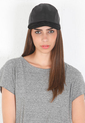 Eugenia Kim Darien Leather Baseball Cap in Black