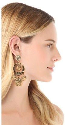 Oscar de la Renta Coin Clip On Earrings