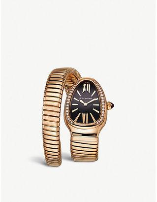 Bvlgari Serpenti 18ct yellow-gold and diamond watch