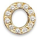 Zoë Chicco 14K Yellow Gold Pave Single Initial Stud Earring, 0.04-0.06 ct. t.w.