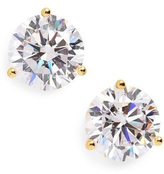 Women's Nordstrom Precious Metal Plated 6Ct Tw Cubic Zirconia Earrings $56 thestylecure.com