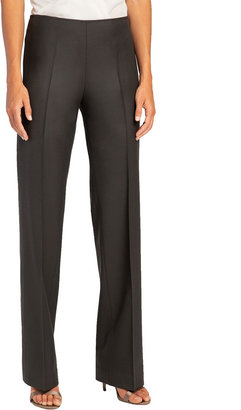 Santorelli Prix Wide-Leg Stretch Wool Pants