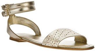 Hogan double buckle sandal