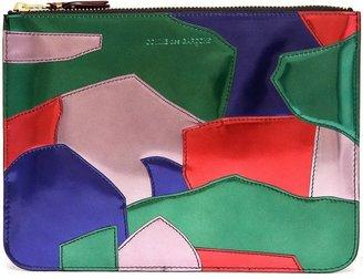 Comme des Garcons Patchwork patent leather pouch