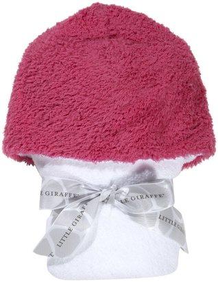 Little Giraffe Chenille Towel - Raspberry