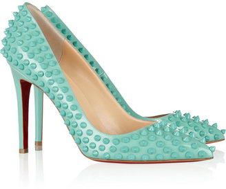 Christian Louboutin Pigalle Spikes 100 leather pumps