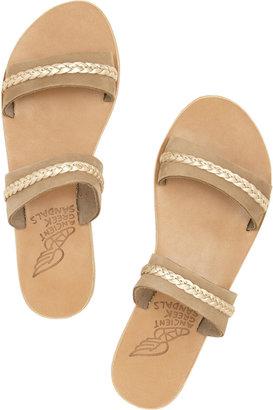 Ancient Greek Sandals Melisanthi braided leather sandals