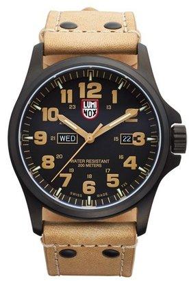 Men's Luminox 'Land - Atacama Field' Leather Strap Watch, 45Mm $625 thestylecure.com