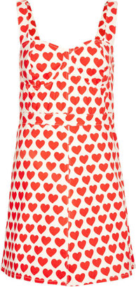 Topshop MOTO Heart Fitted Dress