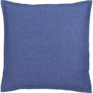 "Crate & Barrel Linden Blue 23"" Pillow"