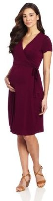 Ripe Maternity Women's Maternity Ballet Wrap Nursing Dress
