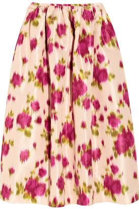 Michael Kors Printed faille skirt