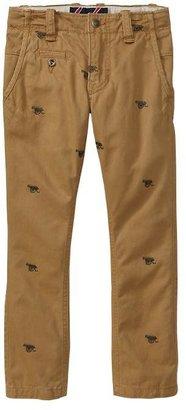 Gap Embroidered khakis