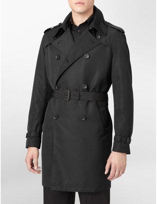 Calvin Klein Belted Nylon Trench Coat Mens
