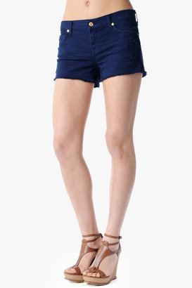 7 For All Mankind Relaxed Cut Off Short In Navy Destroyed