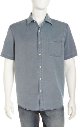 Nat Nast Havana Short-Sleeve Shirt, Blue Steel