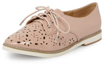 Dorothy Perkins Nude laser cut lace up brogues