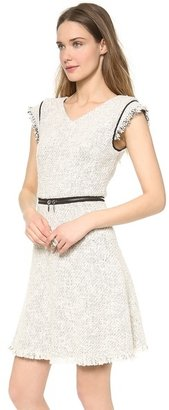Rebecca Taylor Zip Waist Tweed Dress