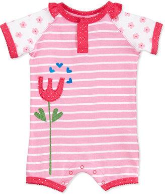 Petit Lem Short-Sleeve Flower Jumpsuit, 3-9 Months