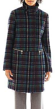 JCPenney Worthington Zip Wool Coat - Talls