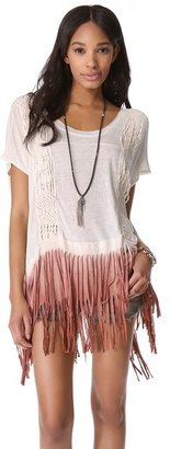 Free People Rough Rider Ombre Tee