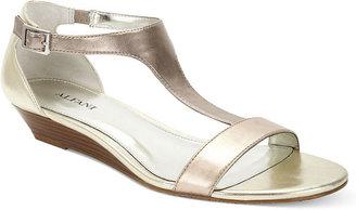 Alfani Women's Shoes, Calm T-Strap Wedge Sandals