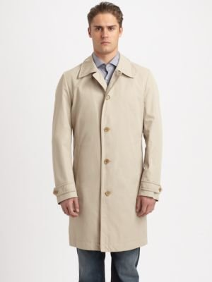 BOSS Fern Button-Front Raincoat