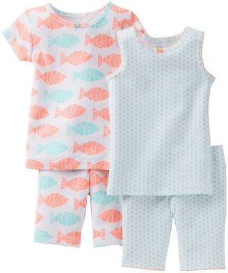 Carter's 4 Piece Printed Cotton Set (Toddler) - Fish-2T