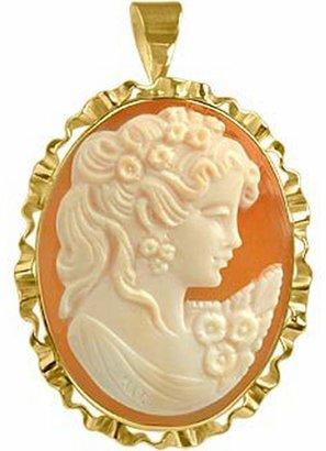 Del Gatto Young Woman Cornelian Cameo Pendant / Pin
