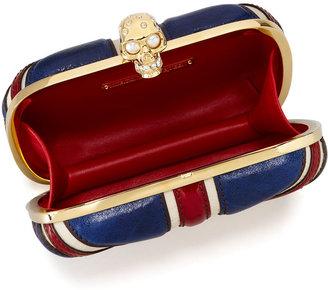 Alexander McQueen Britannia Skull-Clasp Clutch Bag