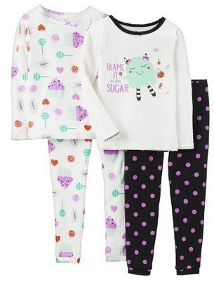 Carter's Just One You Made by Infant Toddler Girls' 4-Piece Sweets Pajama Set