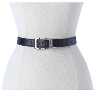 Nike Perforated to Smooth Reversible (Black/White) Women's Belts