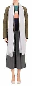 Barneys New York Women's Oversized Solid Scarf - Light Gray