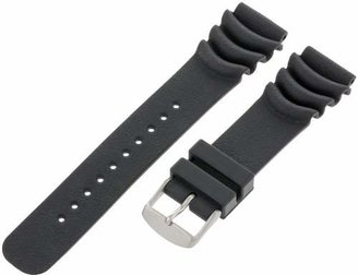 Momentum Men's ZC-22BAS M1-Deep 6 / Superstorm 22mm Black Polyurethane Dive Watch Strap