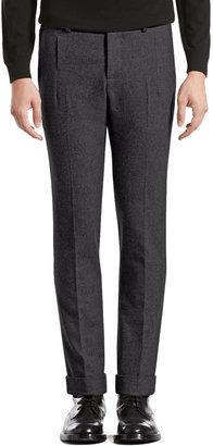 Gucci Stretch Flannel Riding Pants, Dark Gray