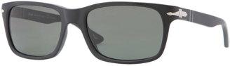 Persol Rectangular Plastic Sunglasses, Black Antique