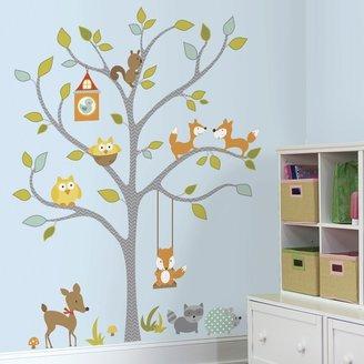 Roommates Woodland Fox & Friends Tree Wall Decals