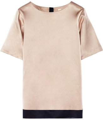 ADAM by Adam Lippes Double-faced silk-satin top