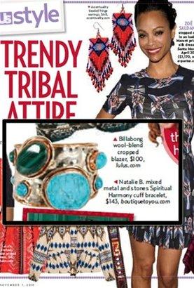 Natalie B Spiritual Harmony Cuff Bracelet