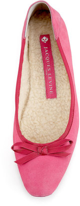 Jacques Levine Inslee Suede Ballerina Flat