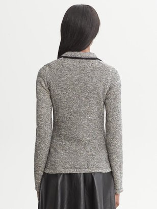Banana Republic Metallic Sweater Blazer