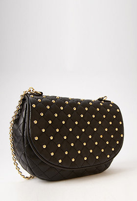 Forever 21 Studded Quilted Crossbody