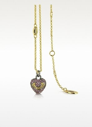 Juicy Couture Pave Heart Wish Necklace